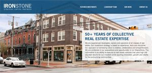 Ironstone Capital Website Design